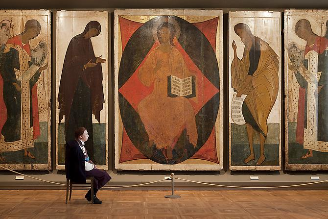 Andy Freeberg,  Andrei Rublev and Daniil's The Deesis Tier, State Tretyakov Gallery , 2009 Archival pigment print