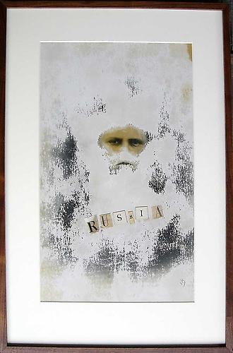 "Varujan Boghosian, 2007  Russia , collage 16.625"" x 25.325"""