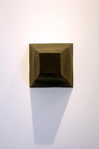 Untitled, 1970  Metal and chalkboard paint (Front View)