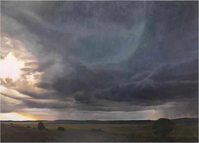 April Gornik Storm and Plains, 2012 oil on linen 74 x 103 inches