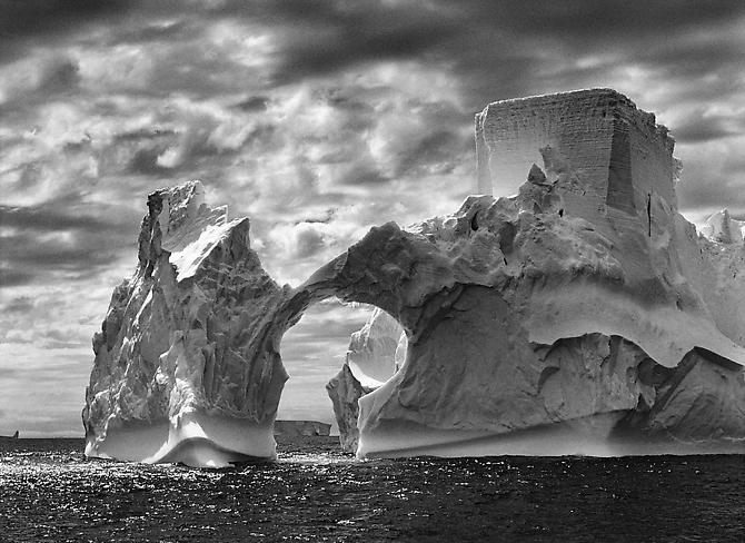 Iceberg between the Paulet Island and the Shetland Island, Antarctica 2005 gelatin silver print