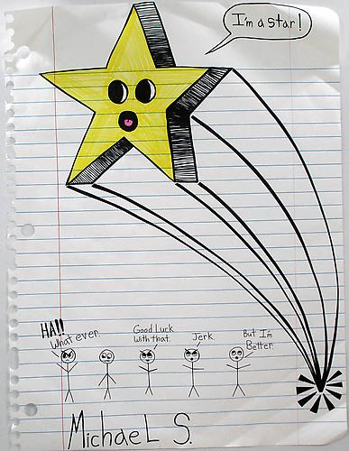 I'm a Star , 2011 Marker, Prismacolor on paper 67 x 51 inches