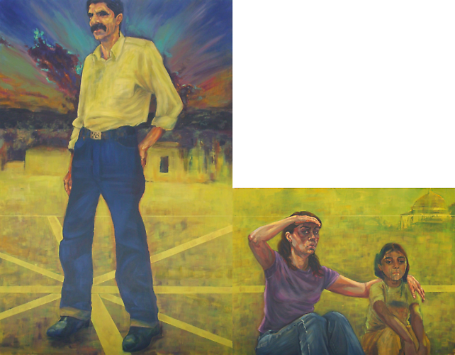 Superdad Return (2009)  -  Enquire  Acrylic & Oil on Canvas 190 x 240 cm