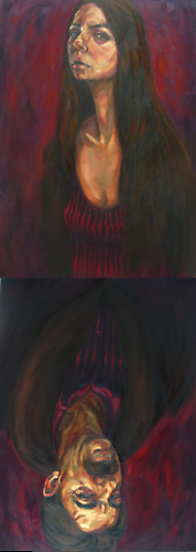 King & Queen (2009)  -  Enquire  Oil on Canvas 50 x 140 cm
