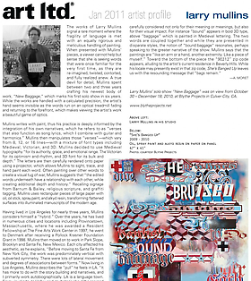 art ltd. magazine: Larry Mullins Profile