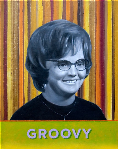 BRITT EHRINGER Janet, 2011 Oil on linen, mounted to board; From the Cool School series 24 x 19 inches