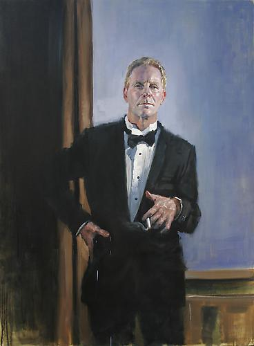 Jorg Dubin Self portrait after Beckmann, 2011 Oil on linen 54 x 40 inches