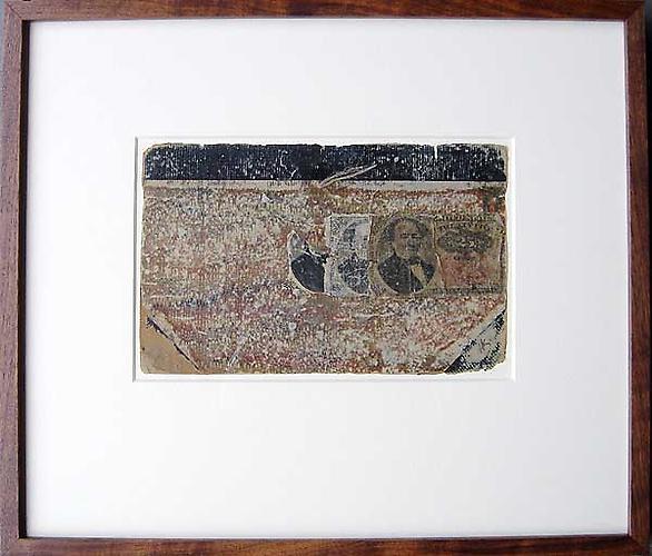"Varujan Boghosian, 2007  Seventyfive , collage 16"" x 14.625"""