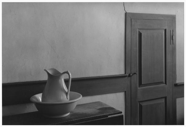 Shaker Interior, Sabbath Day Lake, Maine 1971 platinum/palladium print