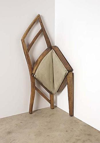 Simple V, 2008 Mixed media 42.5 x 16 x 13 inches
