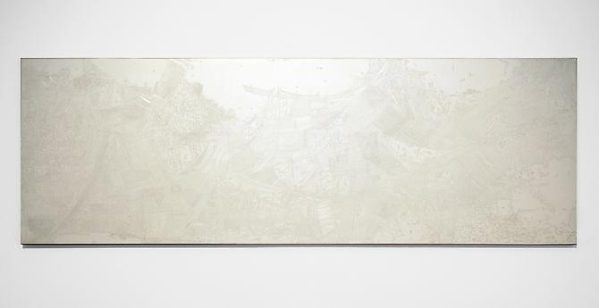 Slow Politics , 2010, pencil on clayboard, 16 x 48 inches, 25 x 57 inches framed