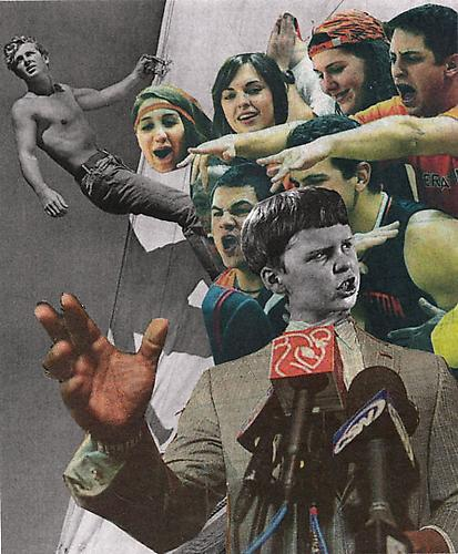 Sports, 2011 Collage on paper 9 x 12 inches