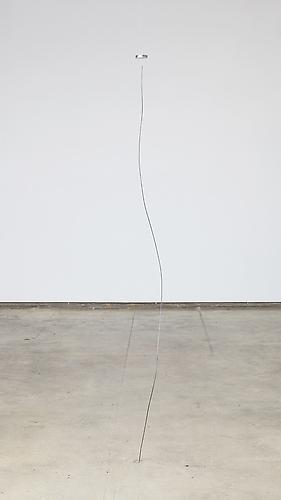 Stability Study (curve) , 2012, magnet, steel, wire, height to ceiling adjustable