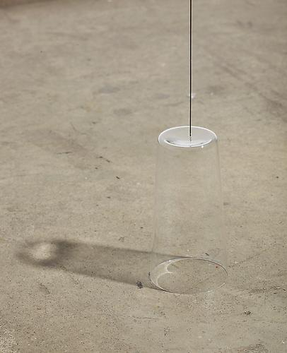 Stability Study (glass) , 2012, detail, glass, wire, magnet, height to ceiling adjustable