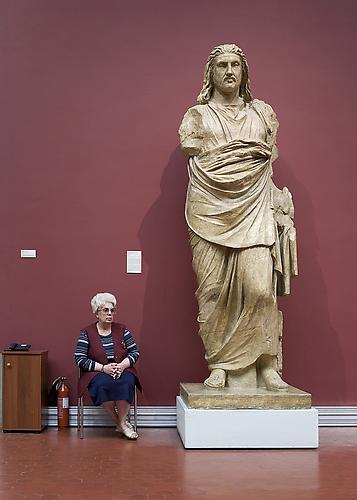 Andy Freeberg,  Statue of Mausolos, the Ruler of Karia, 377-355 B.C., Pushkin State Museum of Fine Arts , 2008 Archival pigment print