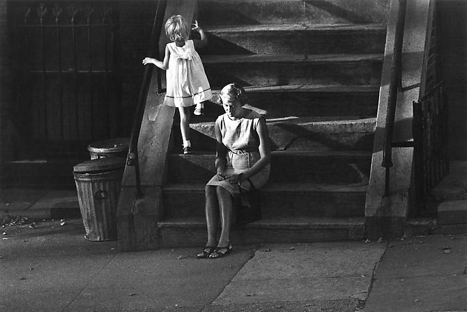 Woman & Child - Steps, Brooklyn Heights 1962 gelatin silver print