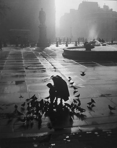 London, Trafalgar Square (Mother and Son with Birds) 1951 gelatin silver print