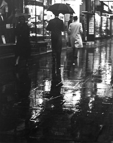 London, Charing Cross Road (Walking in rain on sidewalk) 1937 gelatin silver print