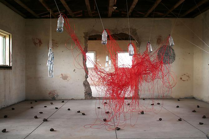 Installation view: The Chinati Foundation, Marfa, TX, October 8, 2005 - May 2006