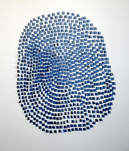 Tony Feher Untitled, 2005 blue painter's tape approx. 44 x 34 x 1 inches