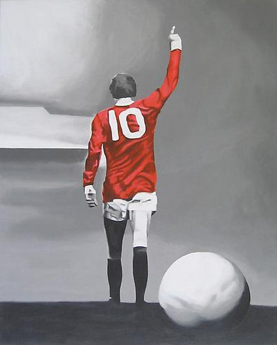 The King of Old Trafford, 2005 Acrylic on canvas on panel 30 x 24 inches