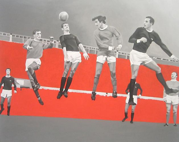 The Prince of Stretford End, 2005 Acrylic on canvas on panel 24 x 30 inches