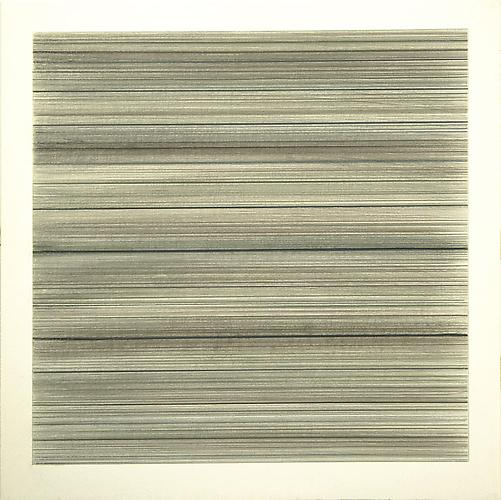 Toccata #12, 2010 Brass/copper/aluminum/silver/gold/bronzepoint and graphite on clay coated paper 12 x 12 inches