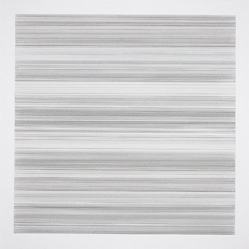 Toccata #37, 2010 Silver/brass/bronzepoint on white Plike paper 18 x 18 inches