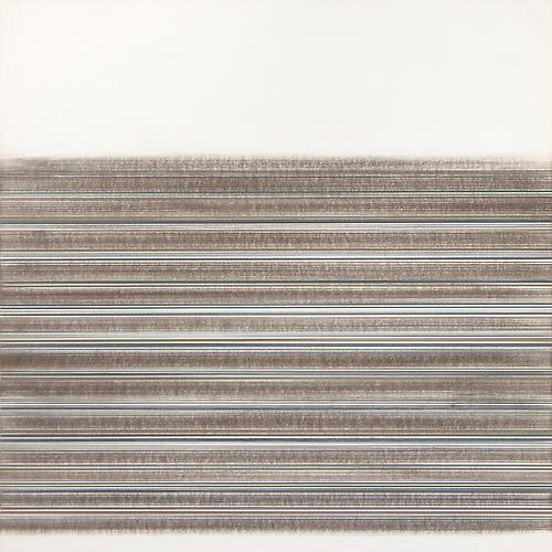 Toccata #46, 2012 Copper/gold/aluminum/silver/brass/pewterpoint, colored pencil, and graphite on clay coated paper 14 x 14 inches