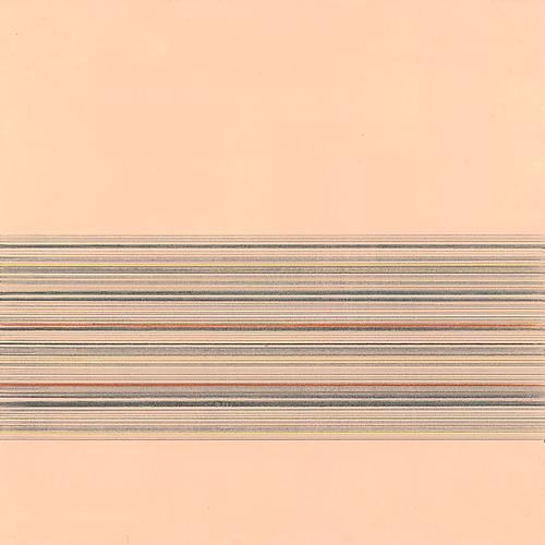 Toccata #52, 2012 Copper, gold, silver, aluminum, tin, pewter pencil, colored pencil and gesso on paper 9 x 9 inches