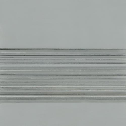 Toccata #57, 2012 Silver/tin/bronzepoint, colored pencil, and grey gesso on paper 9 x 9 inches