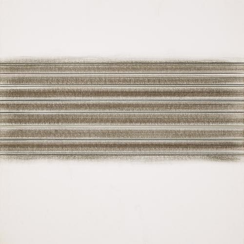 EditToccata #66, 2012 Silver, tin, aluminum, gold point, colored pencil and gesso on paper 14 x 14 inches