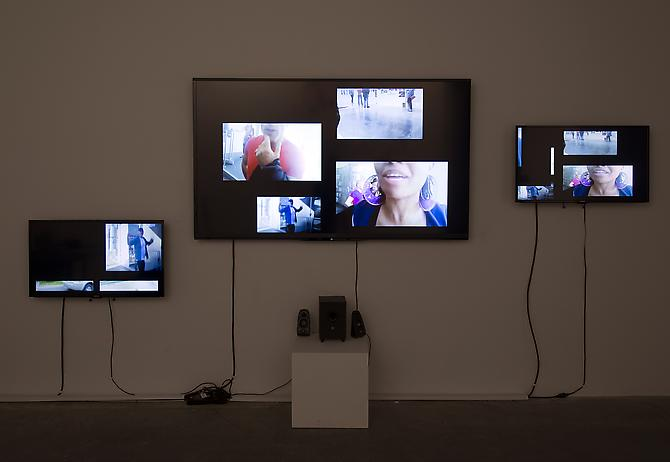 Karen Finley installation view  The Troubles  Version #2 Edition of 5 30min 33sec