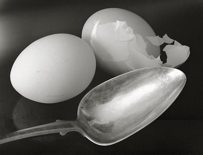 Two Eggs and Spoon 1993 gelatin silver print