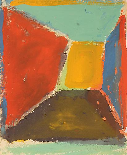 Untitled, 1969 Oil on paper Image: 13 x 9.5; Framed