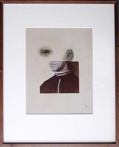 """Varujan Boghosian, 2008  A Renaissance Puzzle , paper collage 12.5"""" x 10"""""""
