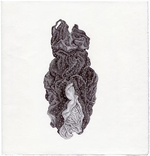 Untitled , 2011 - 03, ballpoint on paper, 8 x 8.5 inches