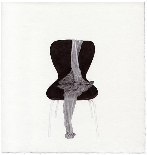 Untitled , 2011 - 09, ballpoint on paper, 11 x 10.5 inches
