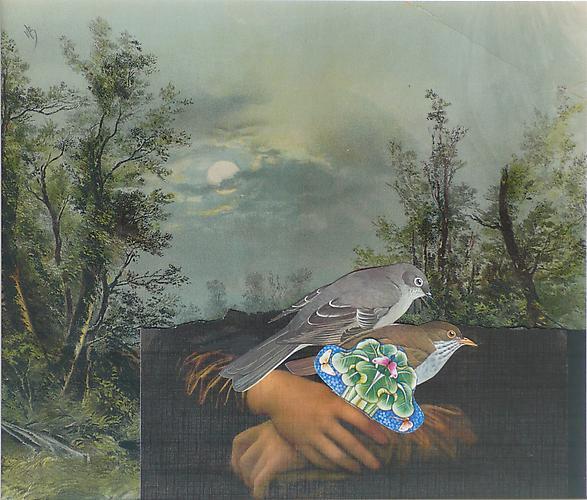 "Varujan Boghosian, 2012  Paradise , collage 17.25"" x 19.25"""