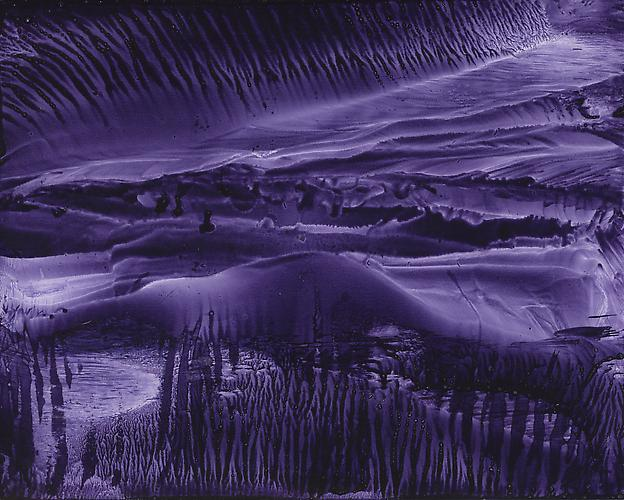 Roland Flexner Untitled, 2012 (1 of 9 in grid) violet calligraphy ink on paper 5 1/2 x 7 inches 14 x 17.8 cm