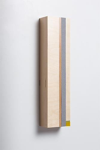 Vertical Block A, 2013 Baltic Birch plywood and felt 20 x 5 x 3 3/4 inches