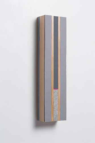 Vertical Block B, 2013 Baltic Birch plywood and felt 20 x 5 x 3 3/4 inches