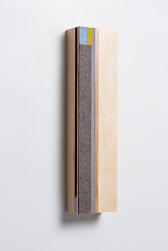 Vertical Block C, 2013 Baltic Birch plywood and felt 20 x 5 x 3 3/4 inches