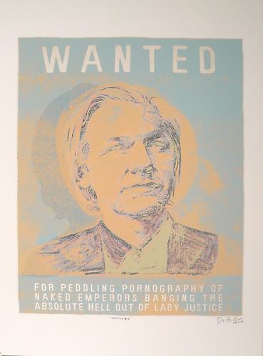 Wanted Man II, 2011 Acrylic and archival pigment print on rag paper 19 x 13 inches