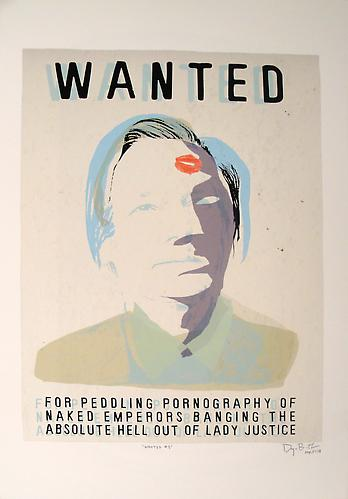 Wanted Man III, 2011 Acrylic and archival pigment print on rag paper 19 x 13 inches