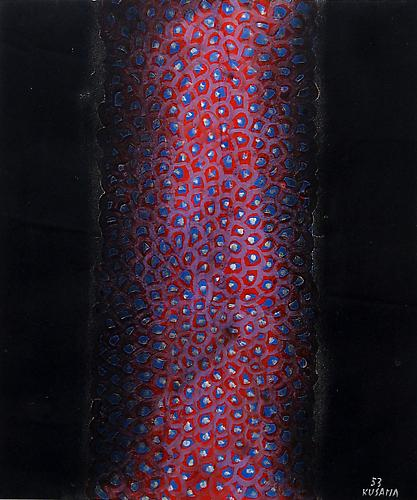 Yayoi Kusama Column No.1, 1953 tempera and pastel on buff paper 15 x 12 3/4 inches