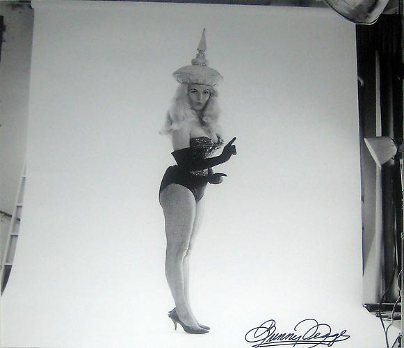 "Bunny in Handmade Costume from the ""Artist & Models Ball"" - Miami, FL 1962 Silver gelatin print 29 x 23 in 73.7 x 58.4 cm"