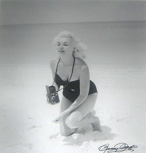 Bunny with Rollei at Naples, FL  1950-1959 Silver gelatin print 29 x 23 in 73.7 x 58.4 cm