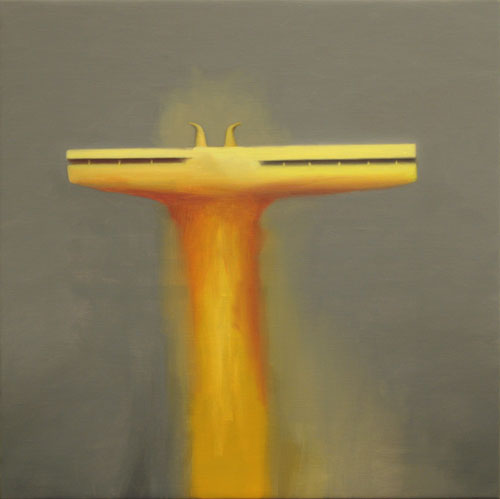 Yellow Tower , 2007, oil on linen, 12 x 12 inches