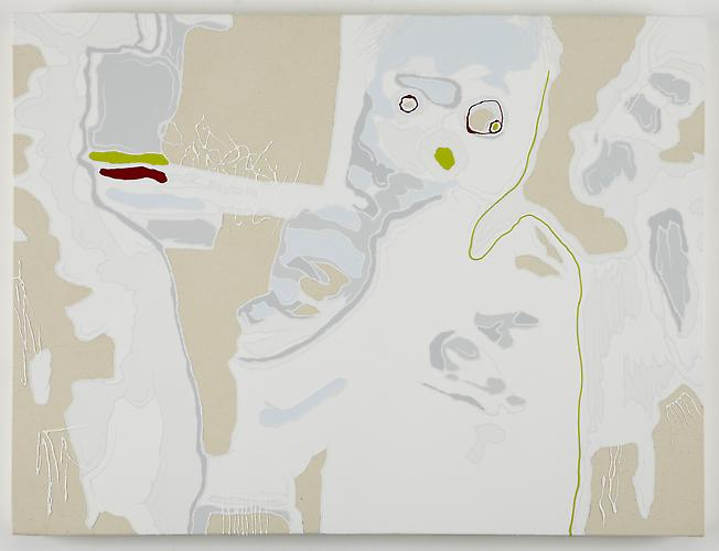 Untitled (Mask Variation), 2011 Acrylic on Canvas 24 x 32 inches
